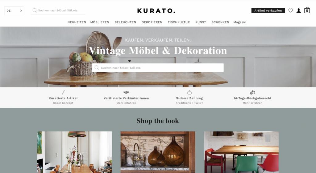 Kurato Webseite
